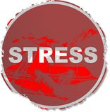 Grunge stress sign Stock Images