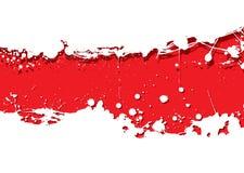 Grunge strip background red splat Stock Image