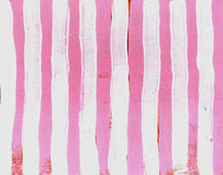 Grunge Stripe Pink. Hand painted pink  and white stripes background painted in acrylic Stock Image