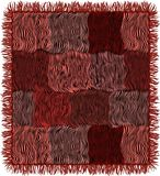 Grunge striped выстеганный ковер с краем в коричневых, розовых, фиолетовых, черных цветах иллюстрация вектора