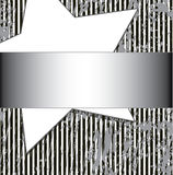 Grunge striped background with star Stock Photography