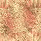 Grunge striped ,checkered,webbed seamless pattern. In yellow,pink,brown colors Royalty Free Stock Photos