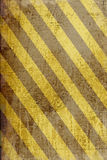 Grunge striped danger banner background Royalty Free Stock Photos