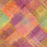 Grunge striped,diagonal,checkered,quilt, cloth colorful se Stock Image