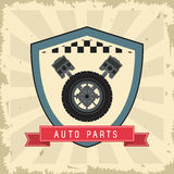 Grunge and Striped illustration. Auto part design. Vector graphi Royalty Free Stock Photography