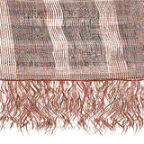 Grunge striped knitted scarf with fringe in brown,white,black colors Royalty Free Stock Images