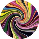 Grunge striped rainbow vortex background Royalty Free Stock Images