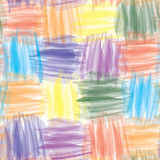 Grunge striped watercolor seamless pattern Stock Photography