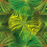 Grunge striped and wavy seamless pattern in green,yellow,brown colors Stock Photo
