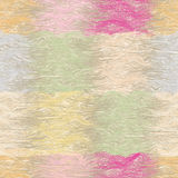Grunge striped and wavy seamless quilt pattern in pastel colors Stock Image