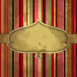 Grunge stripes background with ornamental floral Stock Image