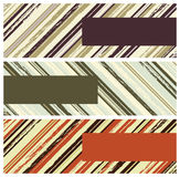 Grunge stripes banners Royalty Free Stock Photography