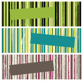 Grunge stripes banners Stock Photos