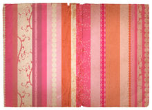 Grunge stripes page. Grunge paper texture with pink and blue retro stripes Stock Image