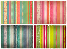 Grunge stripes page. Grunge paper texture with retro stripes Stock Images