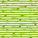 Grunge stripes and summer leaves vector background Stock Photo