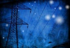 Grunge Stromleitungen Stockfotografie