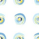 Grunge stubarwni okręgi na białym tle Obrazy Royalty Free