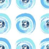 Grunge stubarwni okręgi na białym tle Fotografia Royalty Free