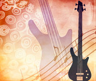 Grunge style background with guitar Stock Image