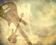 Grunge Style Background With Guitars Stock Photos
