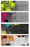Grunge style banners Royalty Free Stock Photos