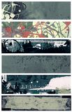 Grunge style banners Royalty Free Stock Image