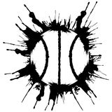 Grunge style basketball. .Abstract vector illustration Royalty Free Stock Image