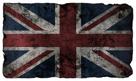 Grunge style British flag. Isolated royalty free stock photography