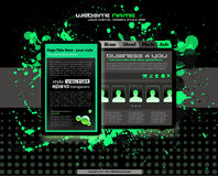 Grunge style business website template Royalty Free Stock Image