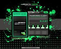 Grunge style business website template stock illustration