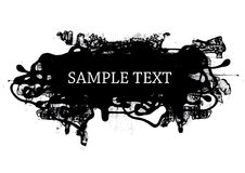 Grunge style design element. Vector illustration Royalty Free Stock Photos
