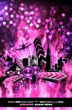 Grunge Style Disco Flyer Background Royalty Free Stock Photography