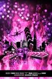 Grunge Style Disco Flyer Background royalty free illustration