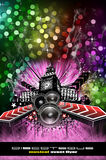 Grunge Style Disco Flyer Background Royalty Free Stock Image