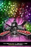 Grunge Style Disco Flyer Background Royalty Free Stock Image