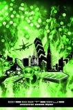 Grunge Style Disco Flyer Background vector illustration