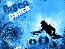 Grunge style DJ Disco Flyer Background Royalty Free Stock Photo