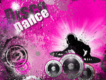 Grunge style DJ Disco Flyer Background Royalty Free Stock Photos