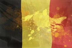 Grunge style of flag of Belgium Royalty Free Stock Photography