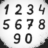 Grunge Style Font. Grunge Numbers. Vector Symbols Stock Photography