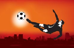 Grunge style football illustration Stock Photography