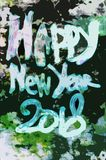 Grunge style greeting card for Happy New Year 2018. Grunge style greeting card for Merry Christmas and Happy New Year 2018 Royalty Free Stock Photo