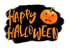 Grunge Halloween background with pumpkin. Grunge style Halloween background with pumpkin stock illustration