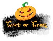 Grunge style halloween background with pumpkin Stock Photo