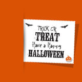 Grunge style Halloween label background Royalty Free Stock Images