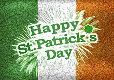 Grunge Style Happy St Patricks Day Design. Unique and different happy sant patricks day style collage design in colorful and saturated green tones Stock Photography