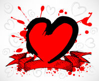 Grunge Style Heart Stock Photo