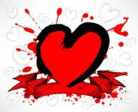 Grunge Style Heart stock illustration