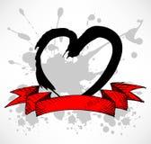 Grunge Style Heart splatter Royalty Free Stock Image